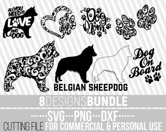 8x Belgian Sheepdog Mandala Bundle Svg Dog Bundle Svg Dog Etsy