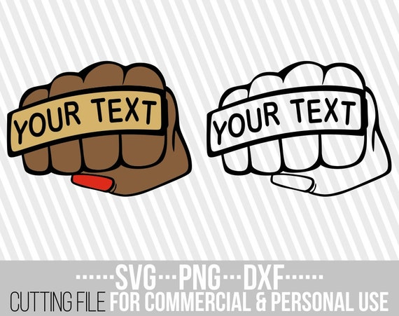 Punch With Your Text Svg Hand Power Svg Fist Svg Man Etsy