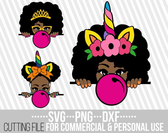 3x Peeking Afro Girl Bundle Svg Melanin Poppin Svg Black Etsy