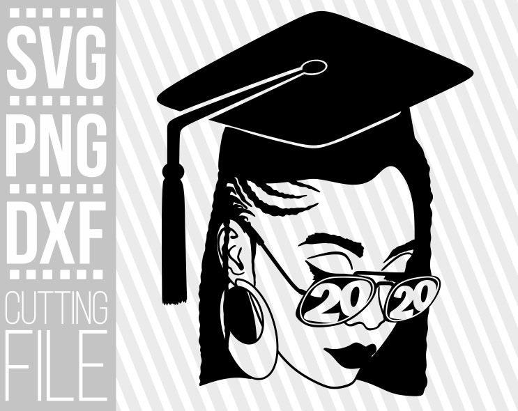 Download Graduation Black Woman 2020 svg, Afro woman svg, Glasses ...