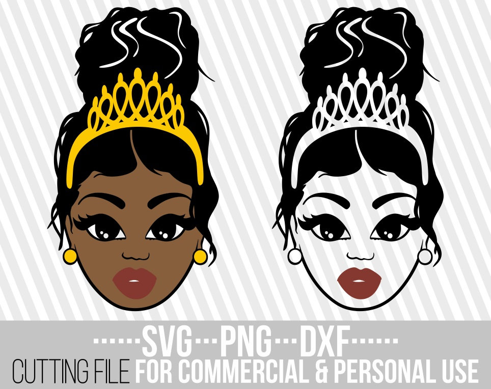 Afro Messy Bun Svg  – 116+ File for Free