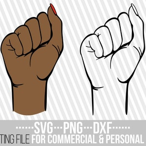 File for Cricut Woman svg Man svg Instant download Hand svg 10x Fist Designs Bundle  svg Silhouette Power svg Monogram Punch svg