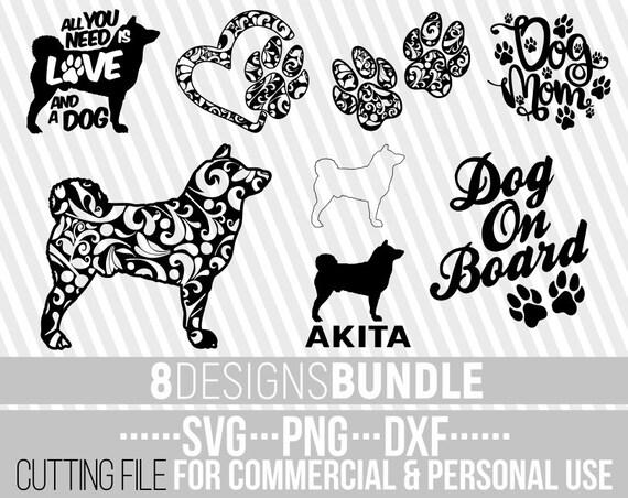 8x Akita Mandala Bundle Svg Dog Bundle Svg Dog Shapes Etsy