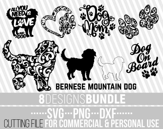 8x Bernese Mountain Dog Mandala Bundle Svg Dog Bundle Svg Etsy
