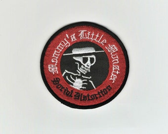 Music Smoking Drinking Embroidered Iron On Patch SOCIAL DISTORTION SKELETON