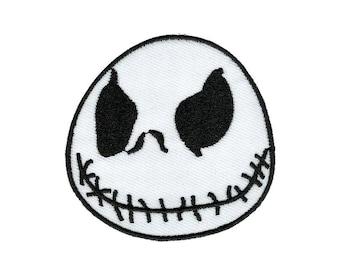 Jack Skeleton Applique Iron On Patch Halloween Patch Skeleton Patch Halloween Applique Embroidered Skeleton Jack Skeleton Patch