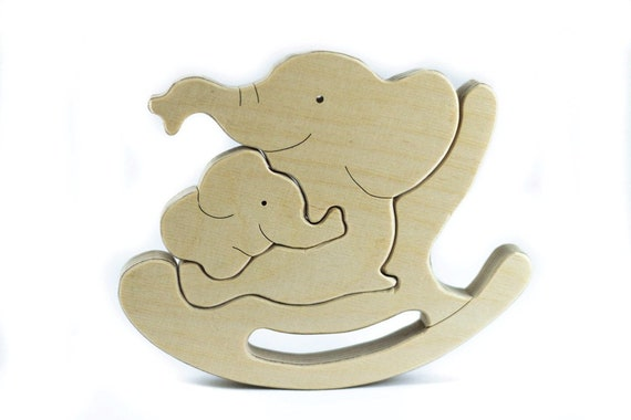 Miraculous Wooden Puzzle Elephant Rocking Chair Gmtry Best Dining Table And Chair Ideas Images Gmtryco