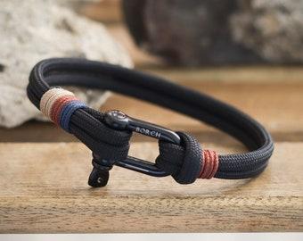 Shackle Bracelet, unisex adjustable bracelet for man, custom bracelet, mens bracelet for gift, bracelet gift, paracord bracelet with buckle