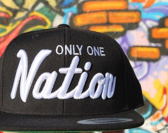 a90cc06c58979 Raiders Only One Nation Snapbacks