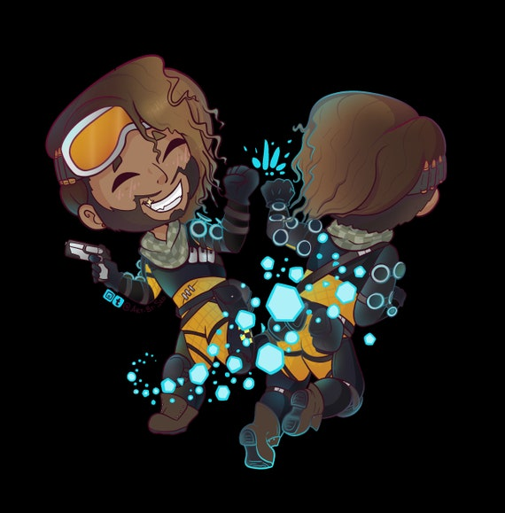 Apex Legends Mirage Caricature on Clear Decal//Sticker