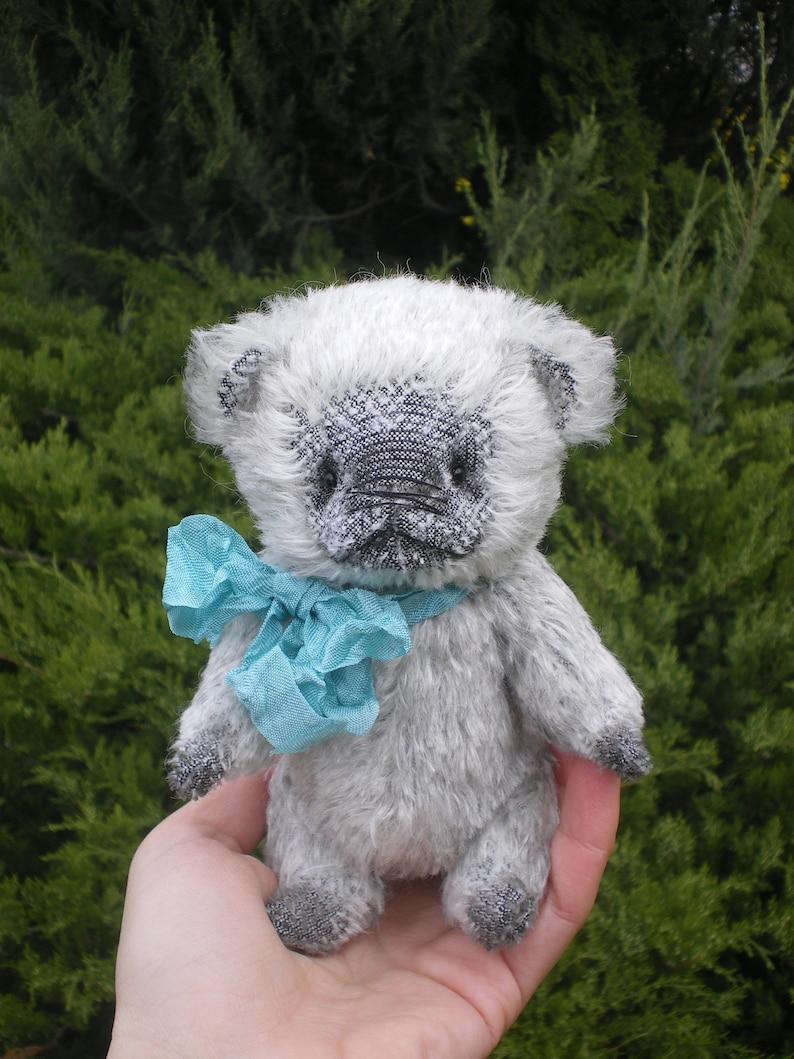 Ooak teddy bear Boo miniature teddy bear handmade teddy bear blythe friends teddy bear Artist teddy bear