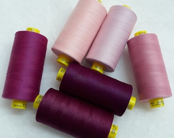 New Quality 2 X Light Fuscia Pink 50m Each Cotton Sewing Thread.Hand//Machine