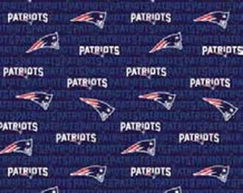 "New England Patriots - Patriots - Football - NFL - 60"" Wide Cotton Fabric"