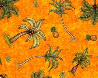 Tropical Fabric - Palm Trees - Post cards from Paradise - Paradise
