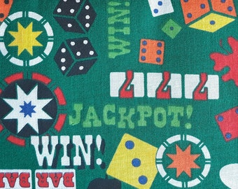 Jackpot - Gambling - Poker - Slot Machines - Vegas fabric - Casino