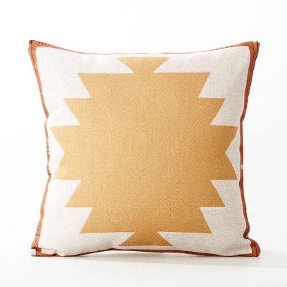 Desert Throw Pillow Aztec Geometry