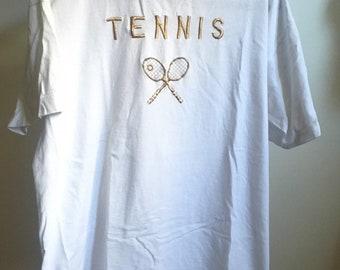 80s tennis shirt | Etsy