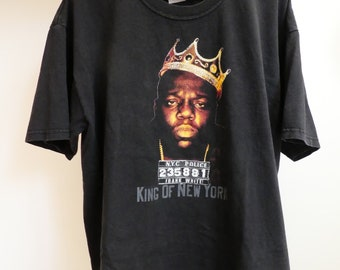 5b8663fc1e8 Vintage Biggie Smalls king of New York Notorious B.I.G. T-shirt