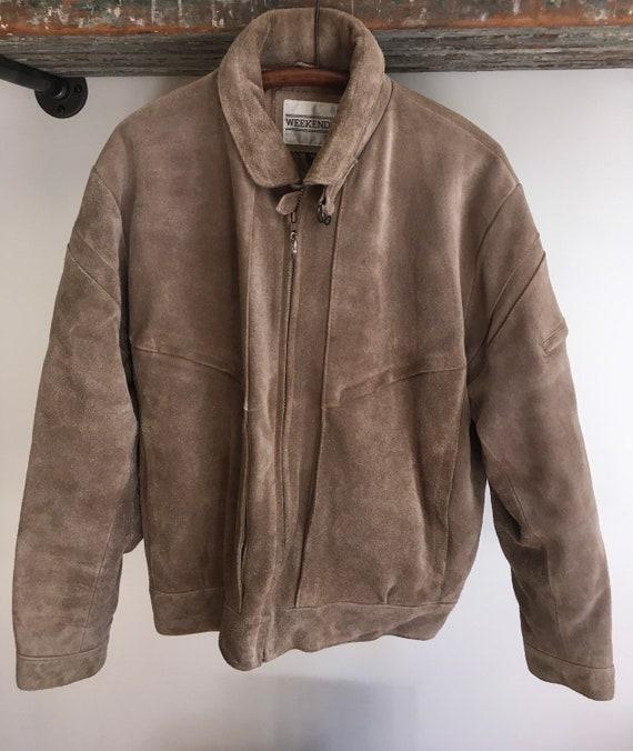 Vintage suede weekender jacket size 42