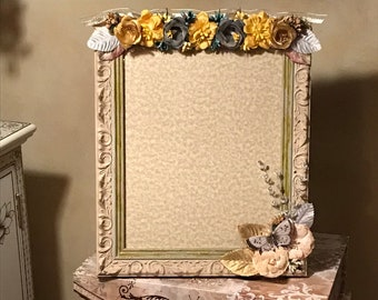 Sophisticated Musings 4 X 6 Hand Embellished Floral Picture Frame