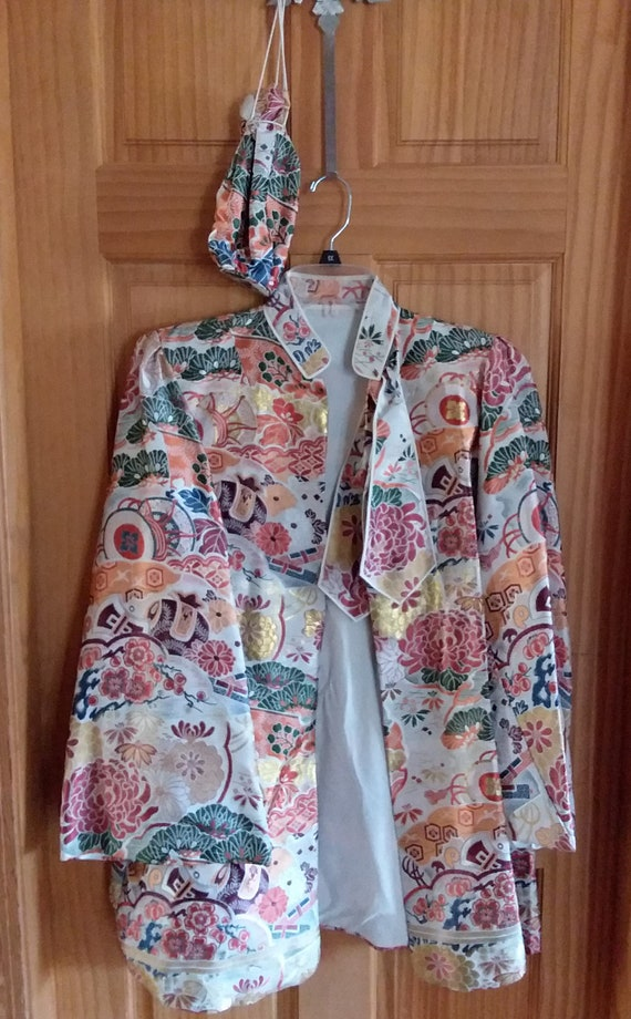 Vintage Oriental Embroidered Jacket and Matching P