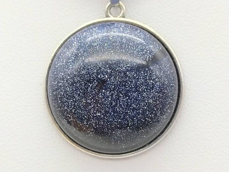 Aventurine Glass Goldstone Round shape Pendant 25mm Cabochon Blue Sand Stone