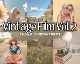 3 Vintage Film Vol. 2 LIGHTROOM Mobile Presets, Mobile Presets, Presets, Retro Preset, Vintage Preset, Nostalgic Filter, Instagram Filter