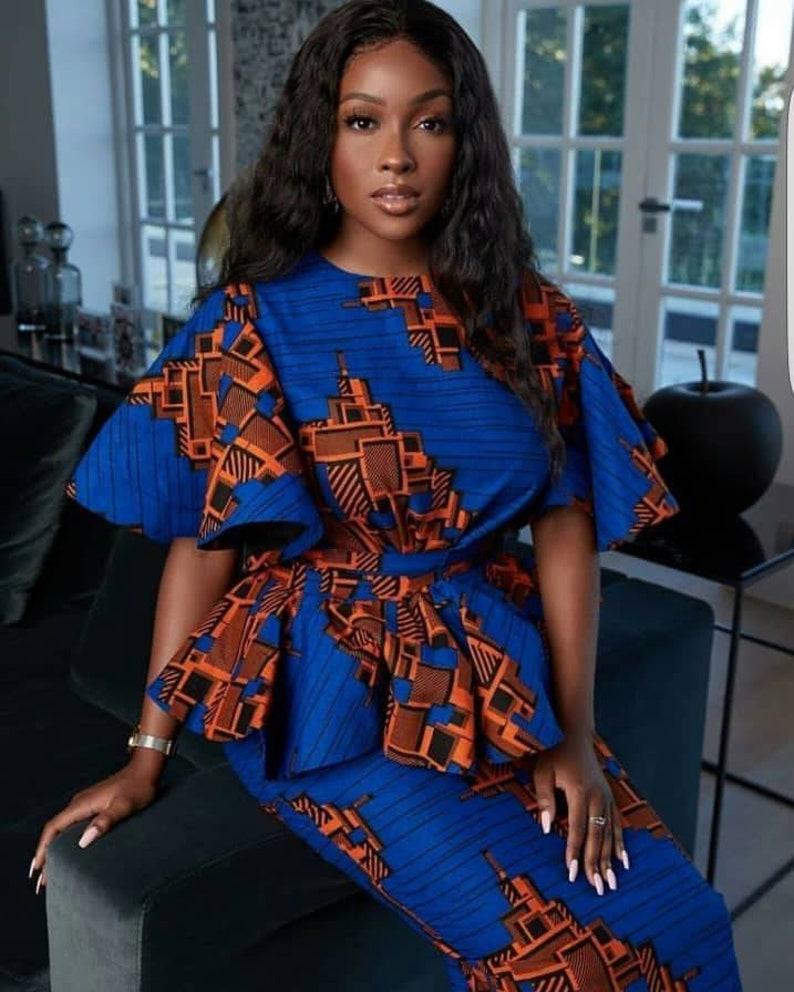 African print skirt setafrican women matching setAfrican image 0