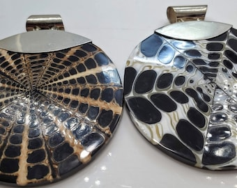 Retro Pendants adorned with .925 Sterling Silver Bales #173