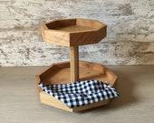 2 tier tray- handmade cedar tray