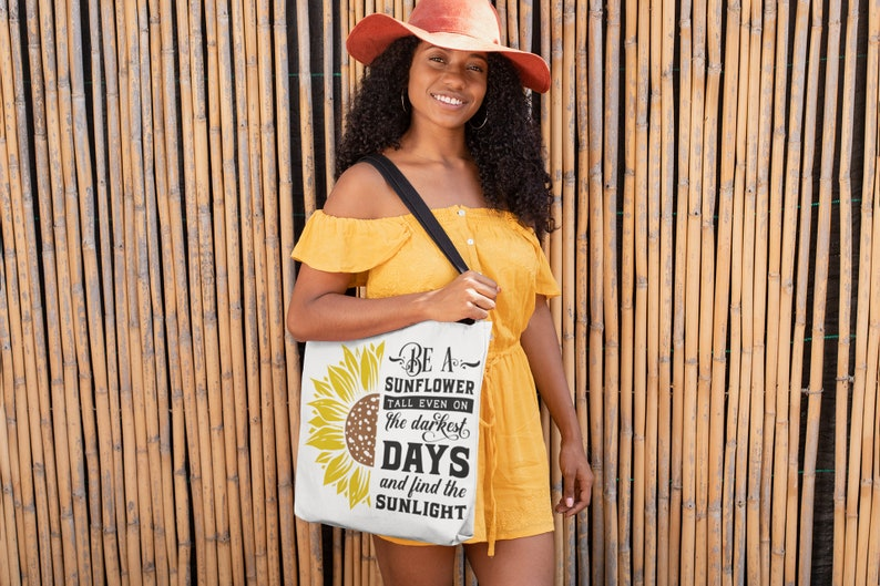Multi-Functional Tote Bag Be A Sunflower Tote Bag Vacation Tote Bag Beach Tote Bag