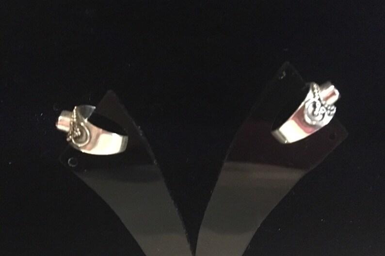 Sterling Silver Genuine Amethyst Ear Cuffs