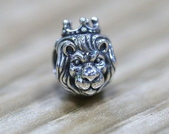 19200de58 Lion Charm, King of the jungle, 925 Sterling silver, Fits to Pandora  Bracelets