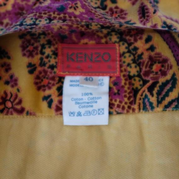 Rare 1970s Vintage Kenzo Paris Paisley Corduroy S… - image 3