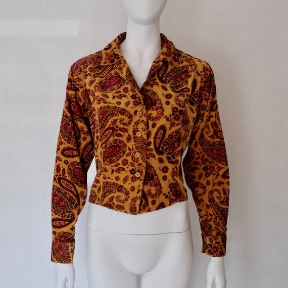Rare 1970s Vintage Kenzo Paris Paisley Corduroy S… - image 1