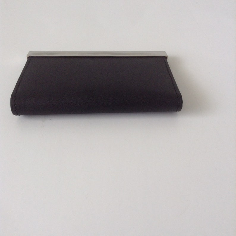 Engravable Business Card Holder Leather And Stainless Steel