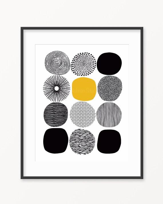 geometric art Scandinavian design mid century modern family room modern art Scandinavian art Danish art circle art Abstract art