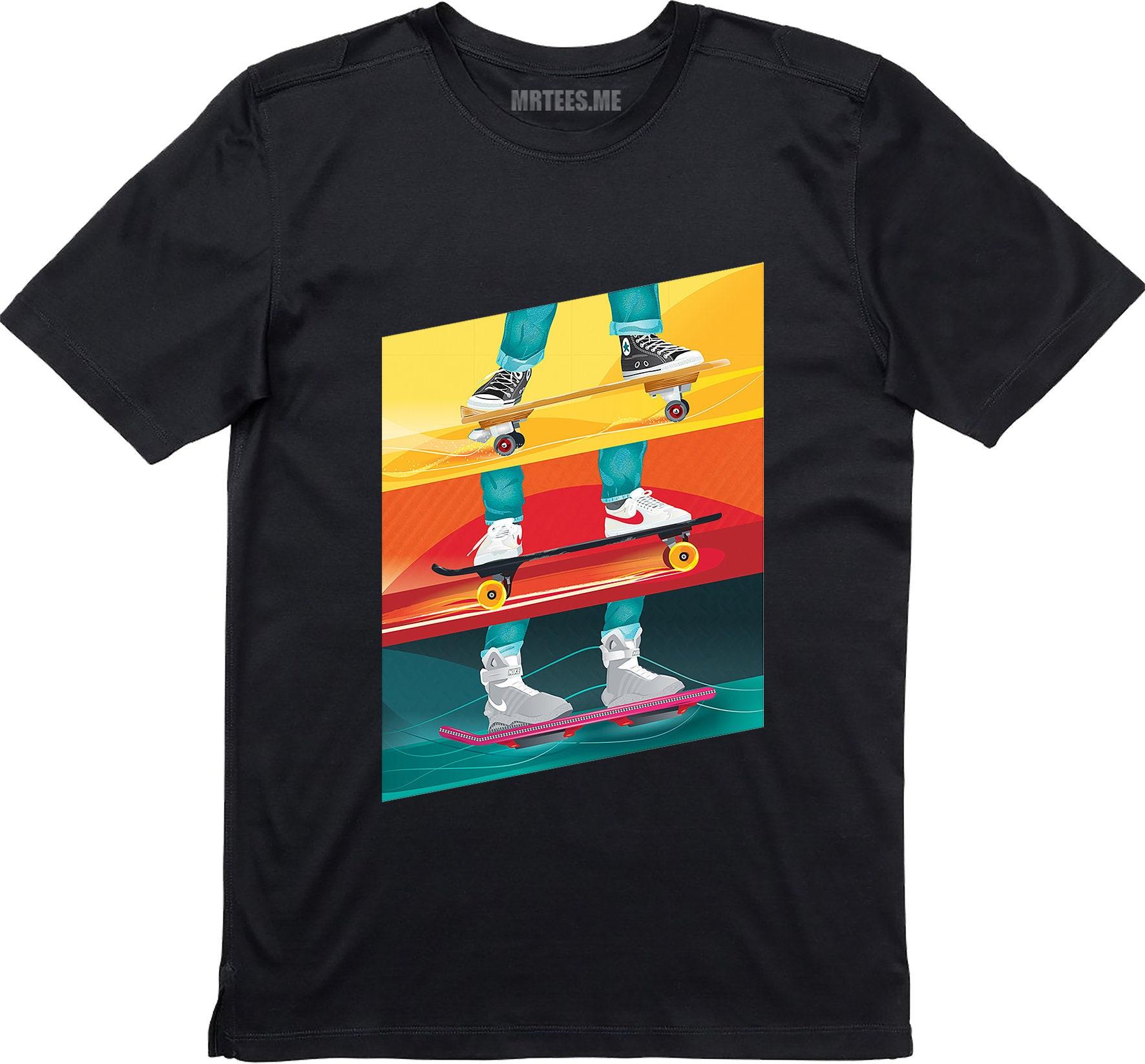 Hoverboard Skateboard BTTF Inspired T-shirt for Men or Kids