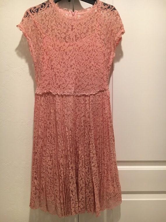 Christian Dior Pink Lace Dress
