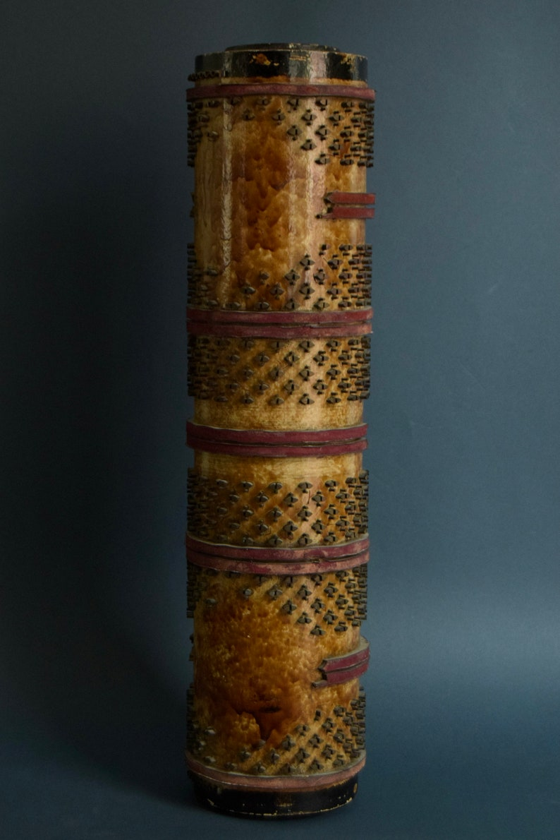 1936 Craftsmanship. Art Deco Manufacture Old Roll or Stamp of Painted Paper Printing Fleuri Motif