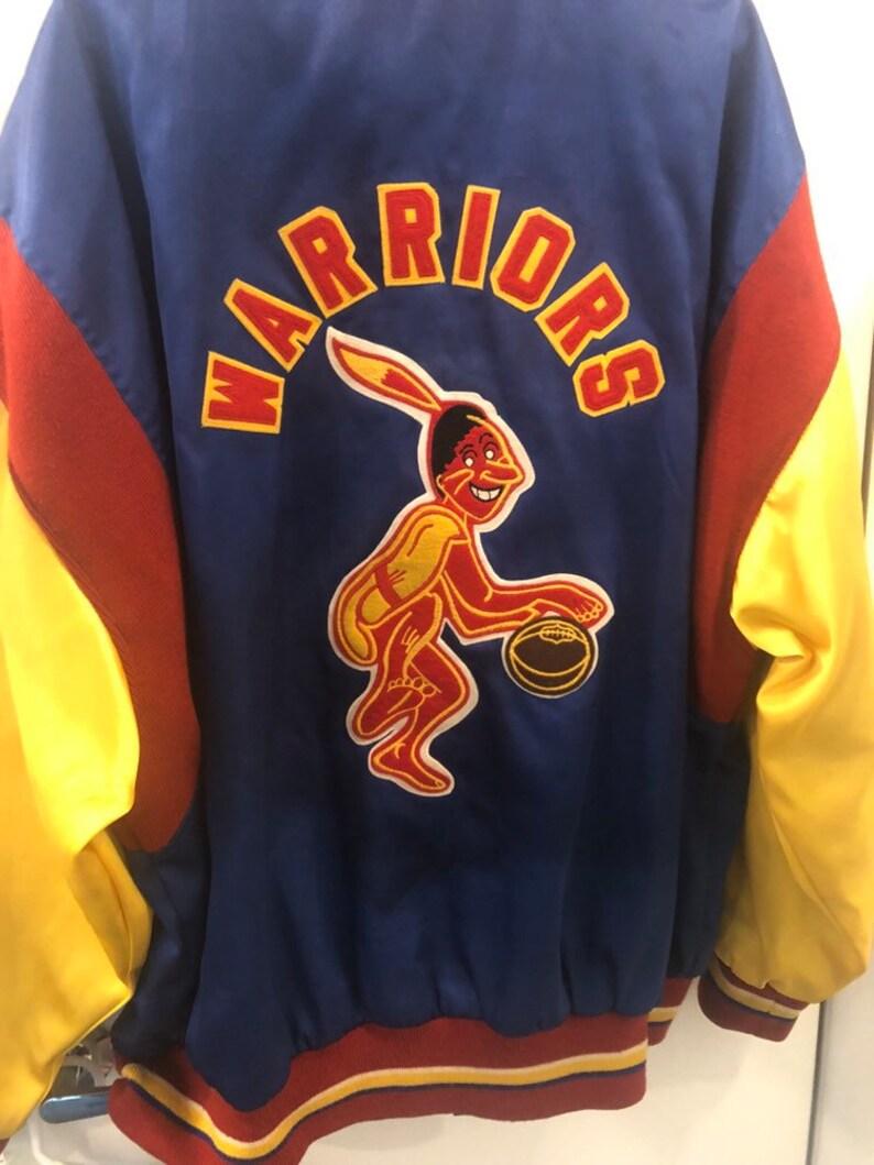 new products 0c19a 53301 Warriors Hardwood classics mitchell and ness championship nba finals  varsity style jacket vintage sz 4XL