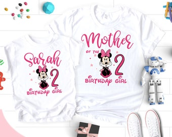 3c745c8b8 Birthday Girl Shirt, Birthday Girl Shirt Toddler, Name Age Personalized  Minnie Shirt, Minnie Mouse Birthday Shirt, 2nd Birthday Girl Shirt