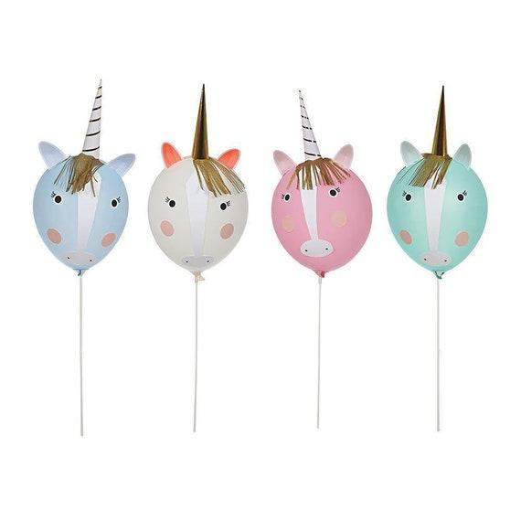 Meri Meri Bright Rainbow Unicorn Party Bags x8