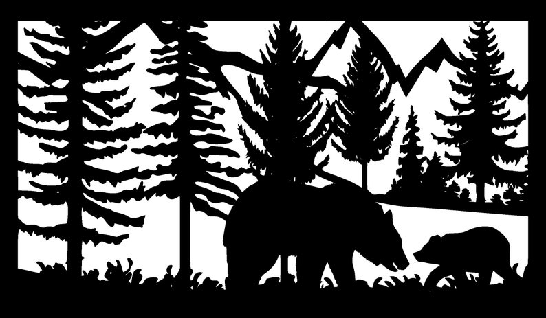Deer dxf Vector Animals wall decor files for cnc dxf files for laser 9 Dxf bundles Laser Cutting cut file dxf files for plasma