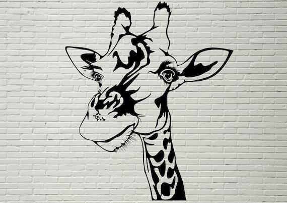 Giraffe Svg Cut File Safari Animal Svg Africa Wild Life Etsy