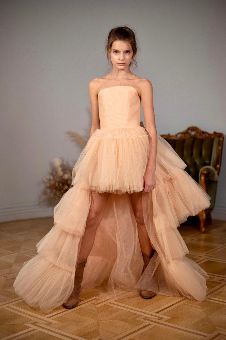 runway dress girls hi low dresses for girls pageant dresses for girls size 7 junior bridesmaid dress long flower girl dress champagne