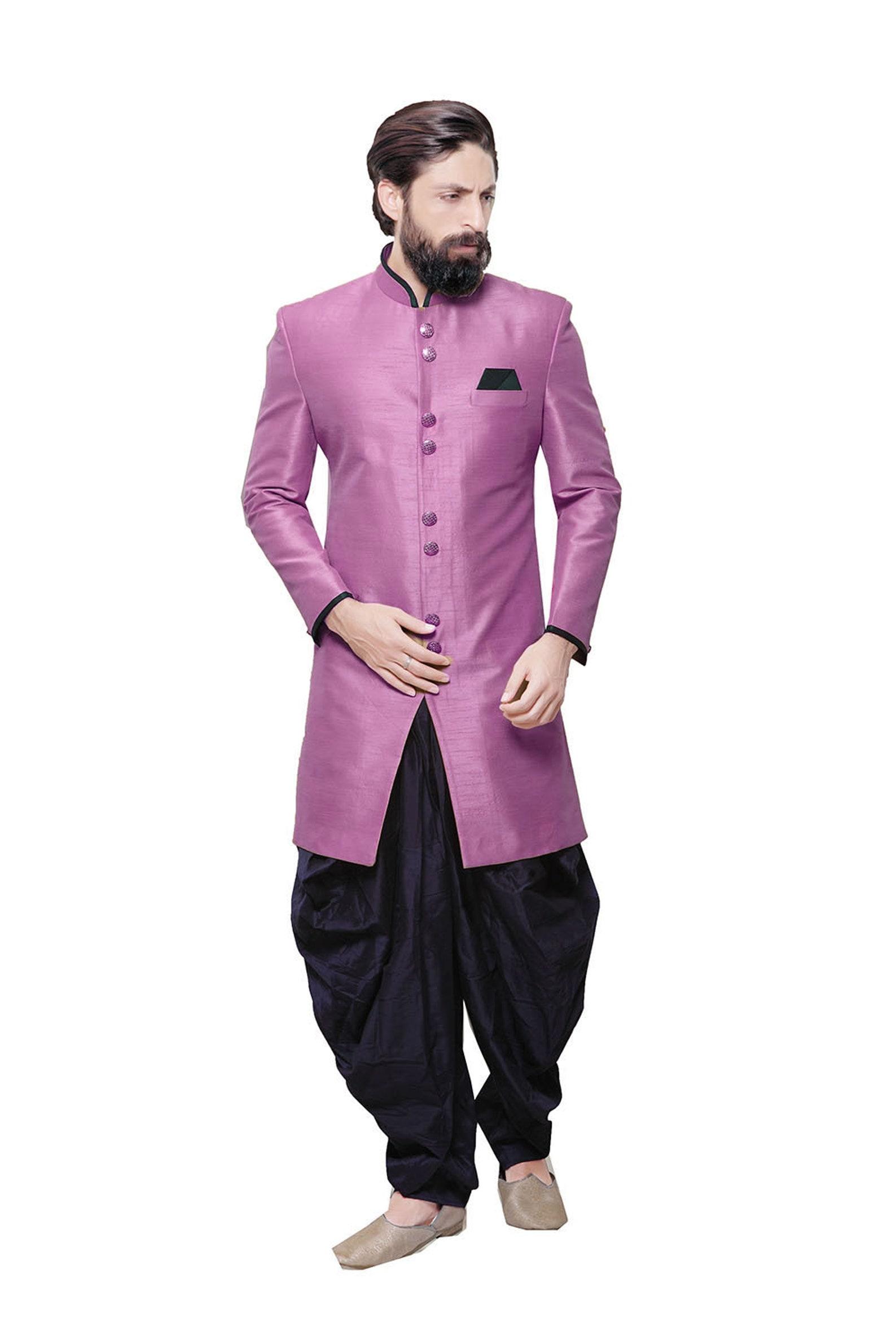 Indische Jodhpuri Anzug für Männer Jungen rosa Designer