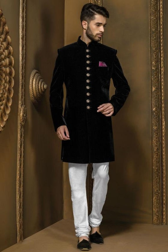 Indian Jodhpuri Achkan Suit Sherwani for men with Designer Traditional Bhandgala Jacket Blazer Dress wedding marriage wear