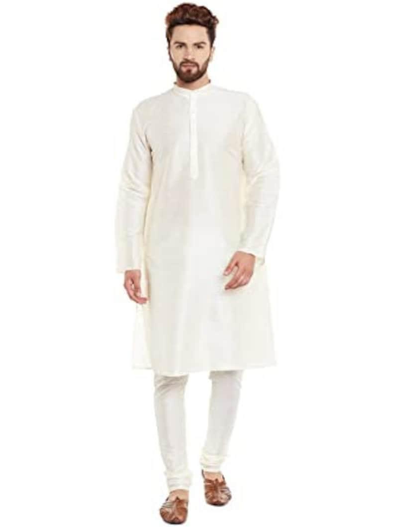 Indian Traditional Ethnic Plain Blue With White Kurta Pajama Royal Designer Party Wear Wedding Partywear Mens indo western.