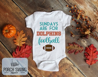 Born a Miami Dolphins Football Fan Baby Bodysuit Cute New Gift Size /& Color